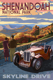Shenandoah National Park, Virginia - Skyline Drive Poster by Lantern Press