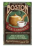 Boston, Massachusetts - Boston Tea 高品質プリント : ランターン・プレス