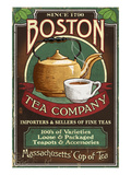 Boston, Massachusetts - Boston Tea Print by  Lantern Press