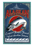 Copper River, Alaska - Salmon Prints by  Lantern Press