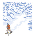 Snowshoer Stylized Art by  Lantern Press