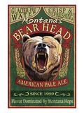Montana - Bear Head Ale Art by Lantern Press