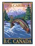 Fly Fisherman - The Cariboo, BC, Canada Prints by Lantern Press 