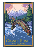 Lagrande, Oregon - Fly Fishing Affiches par  Lantern Press