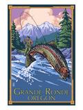 Lagrande, Oregon - Fly Fishing Affiches par  Lantern Press