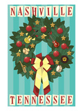 Nashville, Tennessee - Christmas Wreath Posters by  Lantern Press