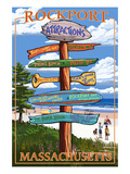 Rockport, Massachusetts - Sign Destinations Poster by  Lantern Press