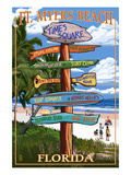 Ft. Myers Beach, Florida - Destination Signs Posters by  Lantern Press