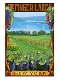 The Finger Lakes, New York - Vineyard Scene Prints by  Lantern Press