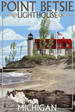 Point Betsie Lighthouse, Michigan Prints by  Lantern Press