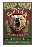 Kodiak, Alaska - Grizzly Bear Ale Print by Lantern Press
