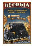 Georgia - Bear Family Print by  Lantern Press
