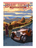 Viaduct Scene at Sunset - Blue Ridge Parkway Posters by Lantern Press 