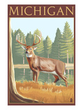 Michigan - White Tailed Deer Posters by  Lantern Press