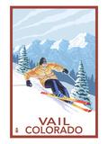 Vail, CO - Vail Downhill Skier Kunstdruck von  Lantern Press