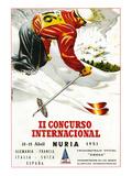 Downhill Skiing Promotion - Il Concurso Internacional Affiches par  Lantern Press