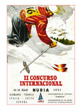 Downhill Skiing Promotion - Il Concurso Internacional Posters by  Lantern Press
