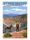 Ubehebe Crater - Death Valley National Park Poster by  Lantern Press