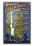 Cataratas Multnomah, Oregón Lámina giclée premium por  Lantern Press