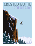 Crested Butte, Colorado - Skier Jumping Posters by  Lantern Press