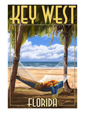 Key West, Florida - Hammock Scene Póster por Lantern Press