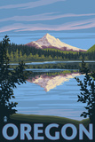 Mt. Hood from Lost Lake, Oregon Prints by Lantern Press 