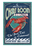 Cataumet, Cape Cod, Massachusetts - Chart Room Lobster Posters by  Lantern Press