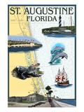 St. Augustine, Florida - Nautical Chart Posters by Lantern Press
