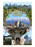 Los Angeles, California - Montage Posters by  Lantern Press