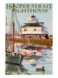 Hooper Strait Lighthouse - St. Michaels, MD Affiches par  Lantern Press