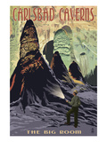 Carlsbad Caverns National Park, New Mexico - The Big Room Poster by  Lantern Press