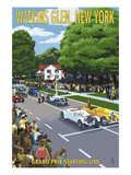 Watkins Glen State Park, New York - Grand Prix Starting Line Prints by  Lantern Press