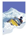 Lantern Press - Snowmobile Plakát