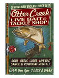 Otter Creek, Vermont - Tackle Shop Posters by  Lantern Press