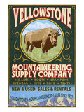 Yellowstone National Park - Bison Mountaineering Prints by  Lantern Press