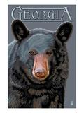 Georgia - Black Bear Up Close Prints by  Lantern Press