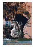 Lakehead, California - Cave and Catamaran - National Natural Landmark Print by  Lantern Press