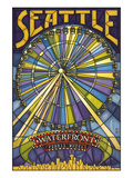 Waterfront Ferris Wheel - Seattle, Washington Posters by  Lantern Press