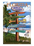 Marco Island, Florida - Destinations Signpost Posters by  Lantern Press