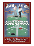 Lakeside, Ohio - Shuffleboard Tournament Prints by Lantern Press 