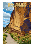 Bandelier National Monument, New Mexico - The Long House Poster by  Lantern Press