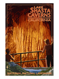 Lakehead, California - Cavern and Lake Scene - National Natural Landmark Prints by  Lantern Press