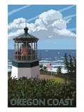 Lighthouse Scene - Oregon Coast Posters by  Lantern Press