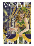 Mardi Gras - Mobile, Alabama Print by  Lantern Press