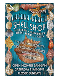 Laguna Beach, California - Shell Shop Prints by  Lantern Press