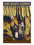 Lakehead, California - Kids and Cavern - National Natural Landmark Prints by  Lantern Press