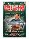 Pike Place Market - Seattle, Washington Prints by Lantern Press 