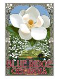 Blue Ridge, Georgia - Magnolia Kunstdruck von  Lantern Press