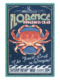 Florence, Oregon - Dungeness Crab Prints by Lantern Press