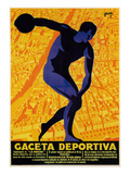 Discus Promotion - Gaceta Deportiva Prints by  Lantern Press